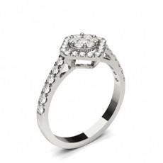 Bague de fiançailles standard solitaire diamant rond serti clos