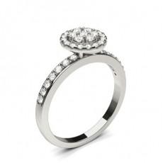 Bague de fiançailles standard solitaire diamant rond serti 4 griffes rondes