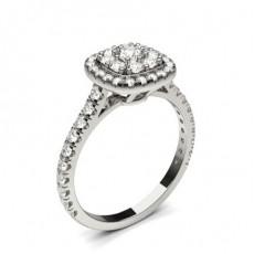 Bague de fiançailles standard solitaire diamant serti 4 griffes profil cœur