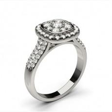 Bague de fiançailles standard solitaire diamant serti demi-clos