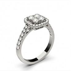 Bague de fiançailles standard solitaire diamant serti 4 griffes rondes