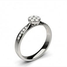 Bague de fiançailles standard solitaire diamant serti clos