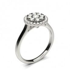 Bague de fiançailles solitaire diamant rond serti double griffes