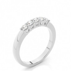 White Gold 5 Stone Diamond Rings