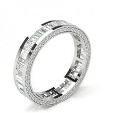 Alliance tour complet diamant rond serti semi clos en 3.30mm