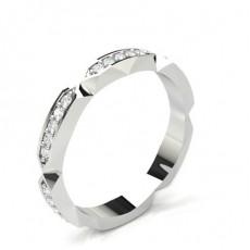 Alliance tour complet diamant rond serti pavé en 3.30mm