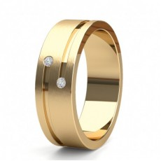 Men's Yellow Gold Wedding Rings & Bands