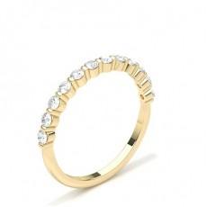 Yellow Gold Diamond Half Eternity Rings