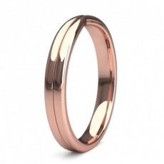 Women's Rose Gold Plain Wedding Rings