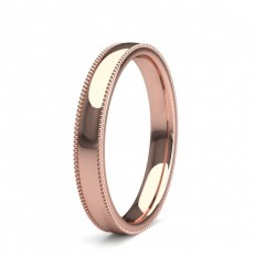 Rose Gold Women's Contemporary Wedding Rings