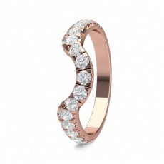 Rose Gold Woman Shaped Bands