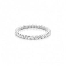 Bague diamant éternité sertie 4 griffes