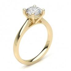Gelbgold Solitär Diamantringe