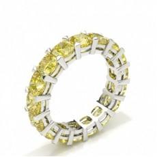Bague tour complet diamant jaune coussin