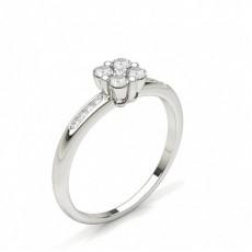Round Cluster Diamond Rings