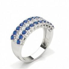 Brilliant Saphir Diamantringe