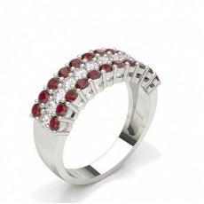 Brilliant Rubin Diamantringe