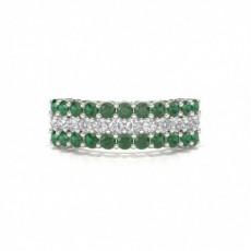 Weißgold Smaragd Diamantringe