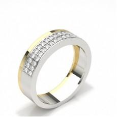 Men's White Gold Diamond Wedding Rings
