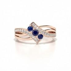 Rose Gold Gemstone Engagement Rings