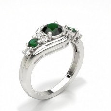 Brilliant Smaragd Verlobungsringe