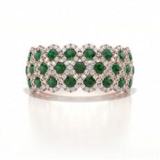 Rose Gold Gemstone Diamond Rings