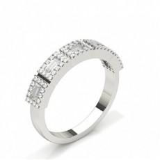 Baguette-Schliff Diamantringe