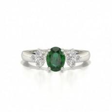 Platinum Gemstone Engagement Rings