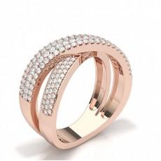 Rotgold Moderne Diamantringe