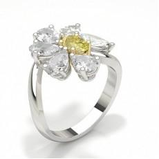 Bague de fiançailles design iamant jaune ovale