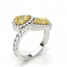 Bague de fiançailles diamant jaune poire