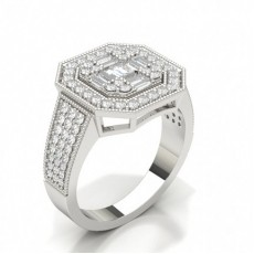 Bague diamant serti illusion