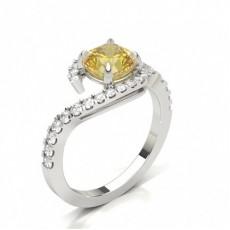 Radiant Gelber Diamant Verlobungsringe