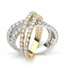 Weißgold Moderne Diamantringe