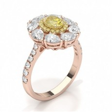 Rotgold Gelber Diamant Ringe