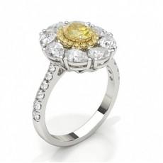 Bague de fiançailles design diamant jaune oval
