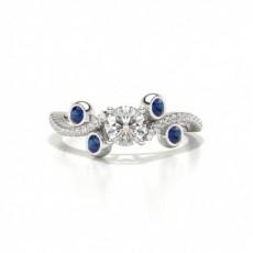 Designer Vintage Round Blue Sapphire Fashion Ring