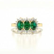 Gelbgold Smaragd Diamantringe