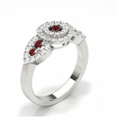 Round Ruby Engagement Rings
