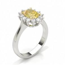 Bague de fiançailles diamant jaune oval