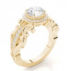 Gelbgold Verlobungsringe Ethereal Kollektion