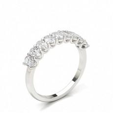 Alliance demi-tour diamant oval sertie griffe