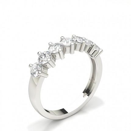 2 Prong Set Half Eternity Diamond Ring