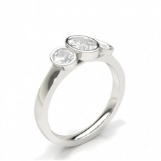 Oval Trilogy Engagement Rings