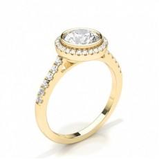 Gelbgold Halo-Ringe