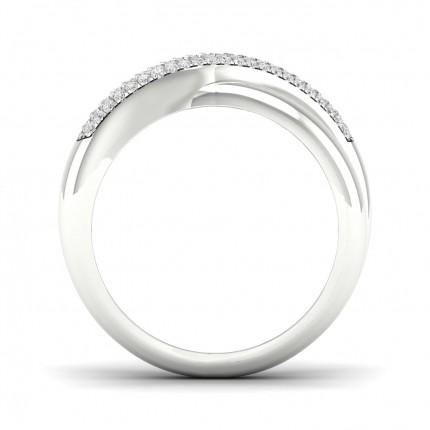 Micro Pave Setting Round Diamond Fashion Ring