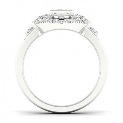 Full Bezel Setting Princess Diamond Fashion Ring