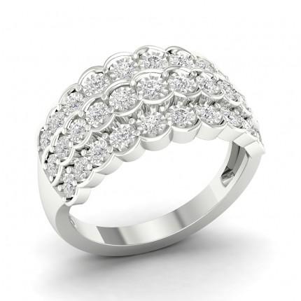 Illusion Setting  Round Diamond Fashion Ring
