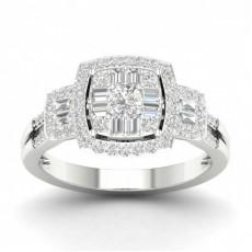 Prong Setting Round Diamond Fashion Ring