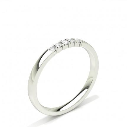 Diamont Studded Five Stone Damen Ehering